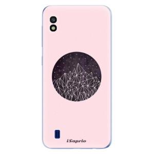 Silikonové odolné pouzdro iSaprio Digital Mountains 10 na mobil Samsung Galaxy A10