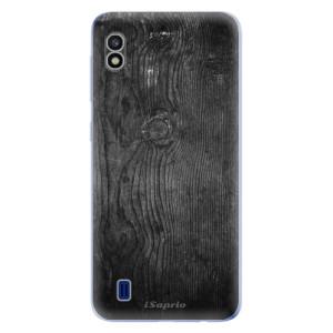 Silikonové odolné pouzdro iSaprio Black Wood 13 na mobil Samsung Galaxy A10