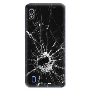 Silikonové odolné pouzdro iSaprio Broken Glass 10 na mobil Samsung Galaxy A10