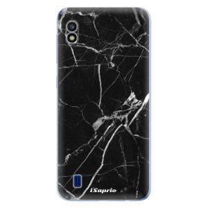 Silikonové odolné pouzdro iSaprio Black Marble 18 na mobil Samsung Galaxy A10
