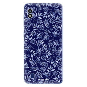 Silikonové odolné pouzdro iSaprio Blue Leaves 05 na mobil Samsung Galaxy A10