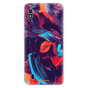 Silikonové odolné pouzdro iSaprio Color Marble 19 na mobil Samsung Galaxy A10