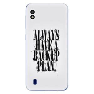 Silikonové odolné pouzdro iSaprio Backup Plan na mobil Samsung Galaxy A10