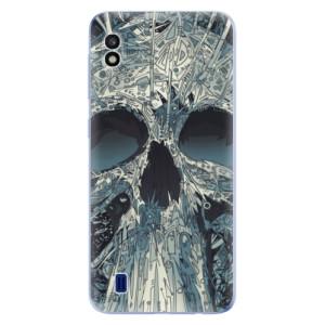 Silikonové odolné pouzdro iSaprio Abstract Skull na mobil Samsung Galaxy A10