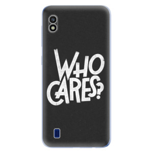 Silikonové odolné pouzdro iSaprio Who Cares na mobil Samsung Galaxy A10