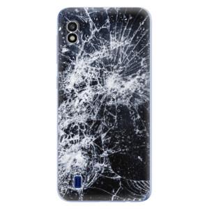 Silikonové odolné pouzdro iSaprio Cracked na mobil Samsung Galaxy A10
