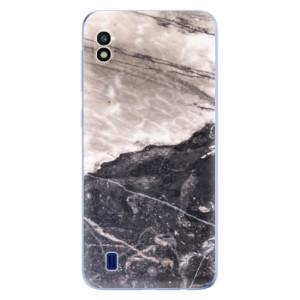 Silikonové odolné pouzdro iSaprio BW Marble na mobil Samsung Galaxy A10