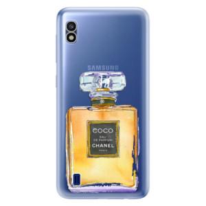 Silikonové odolné pouzdro iSaprio Chanel Gold na mobil Samsung Galaxy A10