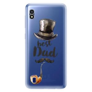 Silikonové odolné pouzdro iSaprio Best Dad na mobil Samsung Galaxy A10