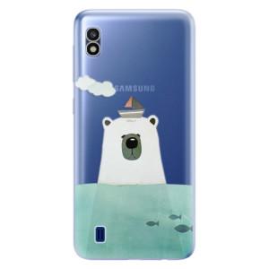 Silikonové odolné pouzdro iSaprio Bear With Boat na mobil Samsung Galaxy A10