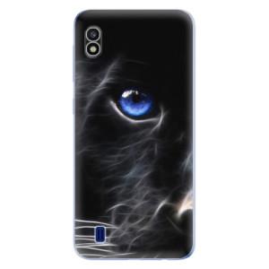 Silikonové odolné pouzdro iSaprio Black Puma na mobil Samsung Galaxy A10