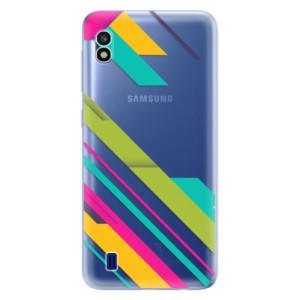 Silikonové odolné pouzdro iSaprio Color Stripes 03 na mobil Samsung Galaxy A10