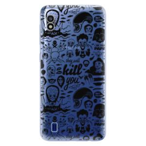 Silikonové odolné pouzdro iSaprio Comics 01 black na mobil Samsung Galaxy A10