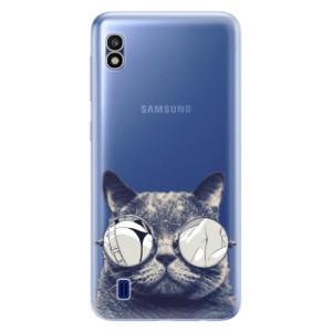 Silikonové odolné pouzdro iSaprio Crazy Cat 01 na mobil Samsung Galaxy A10