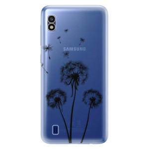 Silikonové odolné pouzdro iSaprio Three Dandelions black na mobil Samsung Galaxy A10