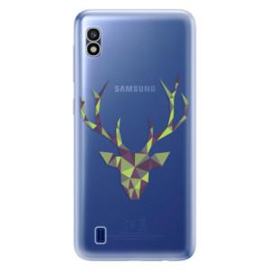 Silikonové odolné pouzdro iSaprio Deer Green na mobil Samsung Galaxy A10