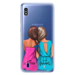 Silikonové odolné pouzdro iSaprio Best Friends na mobil Samsung Galaxy A10