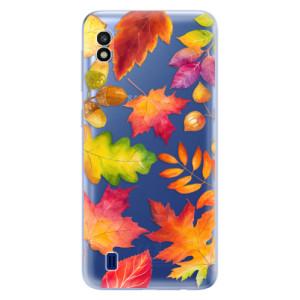 Silikonové odolné pouzdro iSaprio Autumn Leaves 01 na mobil Samsung Galaxy A10