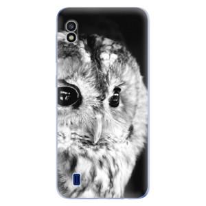 Silikonové odolné pouzdro iSaprio BW Owl na mobil Samsung Galaxy A10
