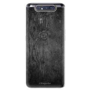 Silikonové odolné pouzdro iSaprio Black Wood 13 na mobil Samsung Galaxy A80