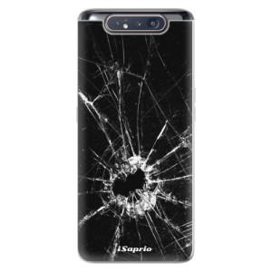 Silikonové odolné pouzdro iSaprio Broken Glass 10 na mobil Samsung Galaxy A80
