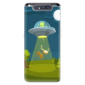 Silikonové odolné pouzdro iSaprio Alien 01 na mobil Samsung Galaxy A80
