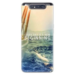 Silikonové odolné pouzdro iSaprio Beginning na mobil Samsung Galaxy A80