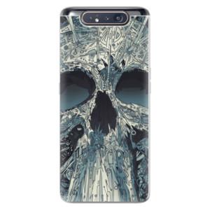 Silikonové odolné pouzdro iSaprio Abstract Skull na mobil Samsung Galaxy A80