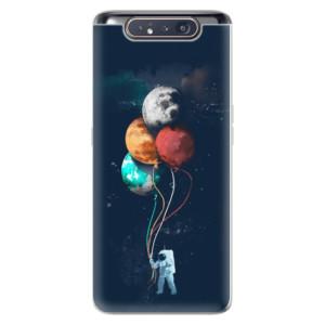 Silikonové odolné pouzdro iSaprio Balloons 02 na mobil Samsung Galaxy A80