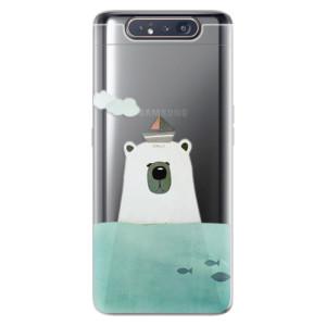 Silikonové odolné pouzdro iSaprio Bear With Boat na mobil Samsung Galaxy A80