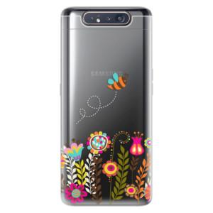 Silikonové odolné pouzdro iSaprio Bee 01 na mobil Samsung Galaxy A80
