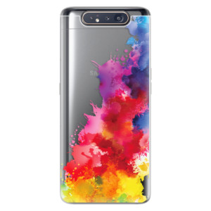 Silikonové odolné pouzdro iSaprio Color Splash 01 na mobil Samsung Galaxy A80