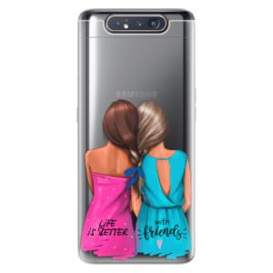 Silikonové odolné pouzdro iSaprio Best Friends na mobil Samsung Galaxy A80