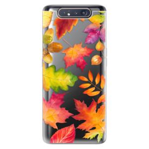 Silikonové odolné pouzdro iSaprio Autumn Leaves 01 na mobil Samsung Galaxy A80