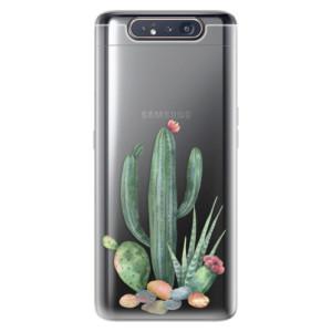 Silikonové odolné pouzdro iSaprio Cacti 02 na mobil Samsung Galaxy A80