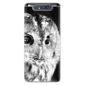 Silikonové odolné pouzdro iSaprio BW Owl na mobil Samsung Galaxy A80