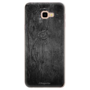 Silikonové odolné pouzdro iSaprio Black Wood 13 na mobil Samsung Galaxy J4 Plus