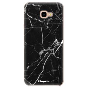 Silikonové odolné pouzdro iSaprio Black Marble 18 na mobil Samsung Galaxy J4 Plus