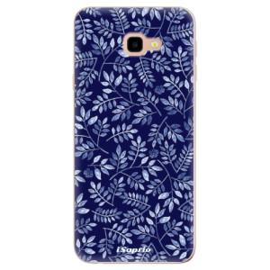 Silikonové odolné pouzdro iSaprio Blue Leaves 05 na mobil Samsung Galaxy J4 Plus