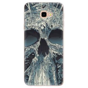 Silikonové odolné pouzdro iSaprio Abstract Skull na mobil Samsung Galaxy J4 Plus