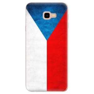 Silikonové odolné pouzdro iSaprio Czech Flag na mobil Samsung Galaxy J4 Plus