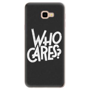 Silikonové odolné pouzdro iSaprio Who Cares na mobil Samsung Galaxy J4 Plus
