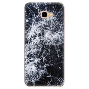 Silikonové odolné pouzdro iSaprio Cracked na mobil Samsung Galaxy J4 Plus
