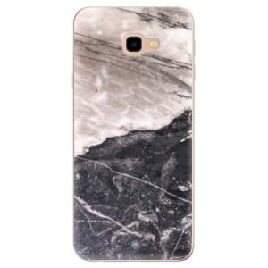 Silikonové odolné pouzdro iSaprio BW Marble na mobil Samsung Galaxy J4 Plus