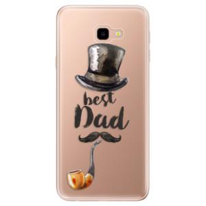 Silikonové odolné pouzdro iSaprio Best Dad na mobil Samsung Galaxy J4 Plus