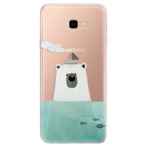 Silikonové odolné pouzdro iSaprio Bear With Boat na mobil Samsung Galaxy J4 Plus