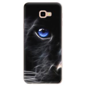 Silikonové odolné pouzdro iSaprio Black Puma na mobil Samsung Galaxy J4 Plus