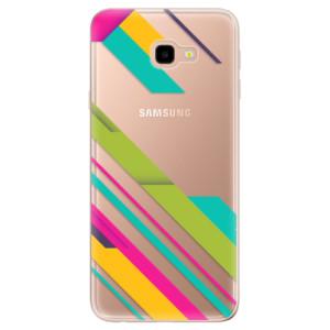 Silikonové odolné pouzdro iSaprio Color Stripes 03 na mobil Samsung Galaxy J4 Plus