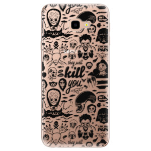 Silikonové odolné pouzdro iSaprio Comics 01 black na mobil Samsung Galaxy J4 Plus