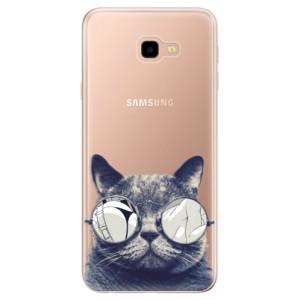 Silikonové odolné pouzdro iSaprio Crazy Cat 01 na mobil Samsung Galaxy J4 Plus